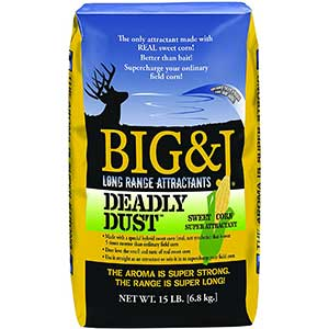 Big&J Deadly Dust Sweet Corn | Deer Attractant to mix with corn