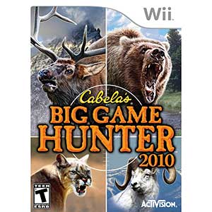 Cabela's Big Game Hunter Wii Hunting Games 2010   Gun included