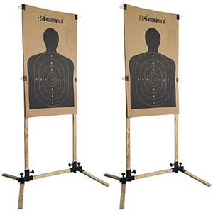 Highwild Shooting Targets   Adjustable Stands   Cardboard Silhouette