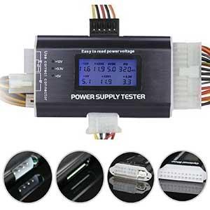 Optimal Shop Power Supply Tester | 20+4 Pin | LCD | Black