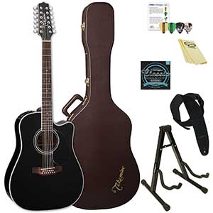Takamine EF381SC-KIT-2 Acoustic-Electric Guitar   Dreadnought, 12-String
