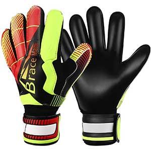 Brace Master Goalkeeper Gloves with Finger Protection │ Hard-wearing