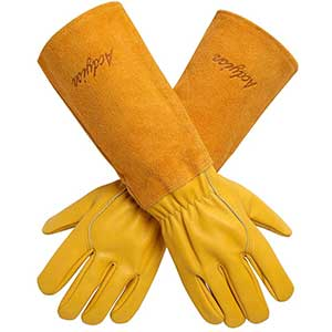 Acdyion Gardening Thorn Proof Gloves   Cowhide Leather