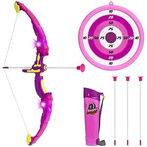 Click N' Play Suction Cup Bow and Arrow Set   Non Toxic Element