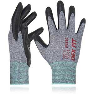 Dex Fit Touch Screen Work Gloves | Nitrile Glove