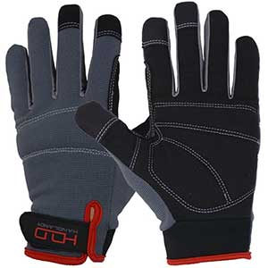Handlandy Men's Touch Screen Work Gloves | Synthetic Leather