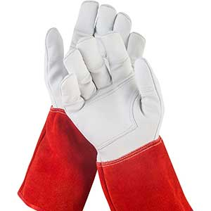 NoCry Long Thorn Proof Gloves   Goatskin Leather