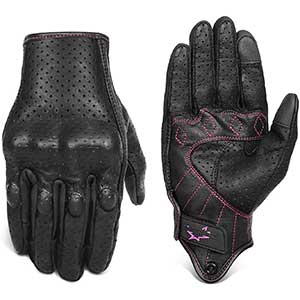 Superbike Touch Screen Motorcycle Gloves | Red Line