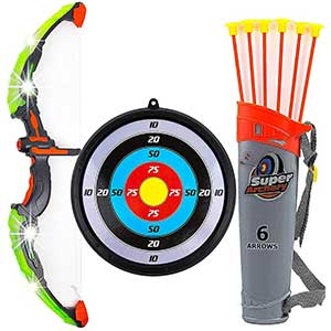 Toysery Suction Cup Bow and Arrow Set   LED Lights